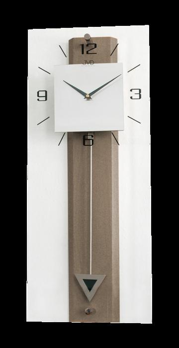 Dřevěné skleněné kyvadlové velké netikající nástěnné hodiny JVD NS2233/78 (POŠTOVNÉ ZDARMA!!)