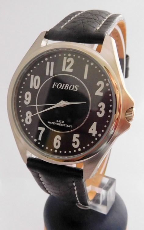 Čitelné ocelové pánské značkové voděodolné hodinky Foibos 3883.7 - 5ATM