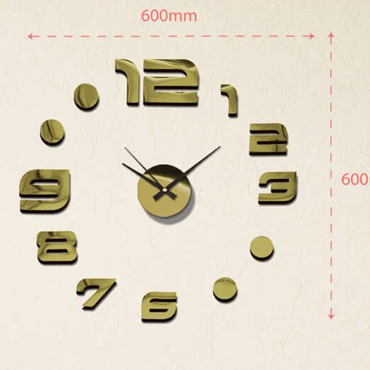 """Luxusní lesklé nalepovací hodiny na zeď MPM E01.3776.80 s lesklými číslicemi (Levné nalepovací hodiny s arabskými číslicemi """"12"""")"""