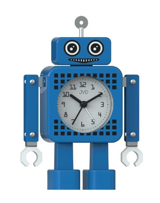 Tichý netikající dětský budík JVD ROBOT SRP2304.1 (modrý)