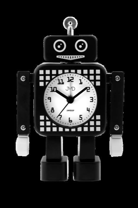 Tichý netikající dětský budík JVD ROBOT SRP2304.3 (černý)