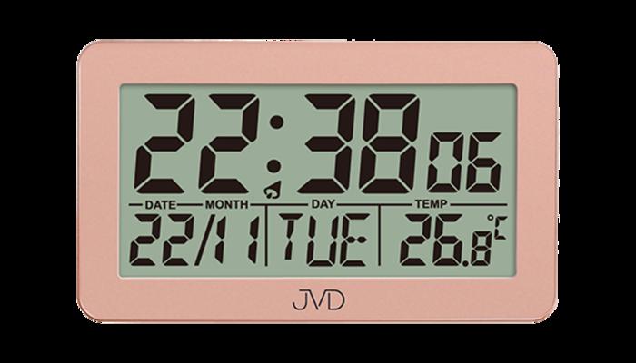 Digitální rádiem řízený budík JVD RB8203.1 s teploměrem a podsvícením ( )
