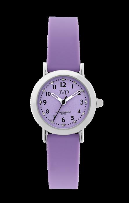 Dívčí dětské náramkové hodinky JVD J7189.1 se zirkony na číselníku (dívčí dětské  hodinky cde35564a30