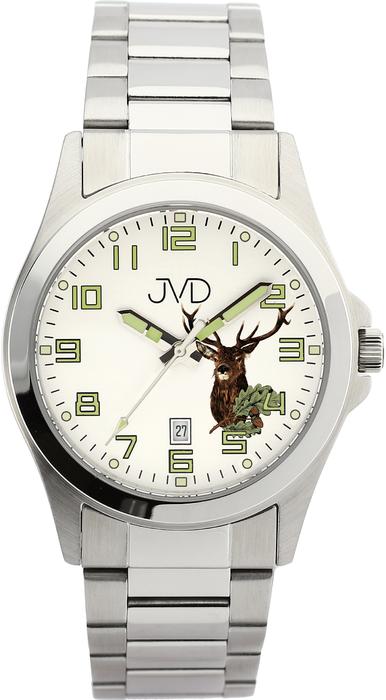 Vodotěsné náramkové myslivecké hodinky JVD steel J1041.16 - 10ATM s jelenem 95d4b2f7e02
