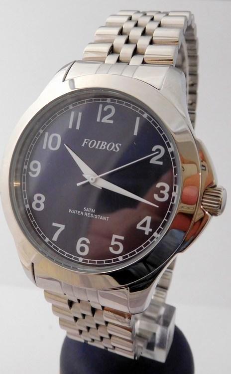 Čitelné ocelové pánské přehledné voděodolné hodinky Foibos 6983.3 - 5ATM (pánské  hodinky na ocelovém tahu abaf19e604f