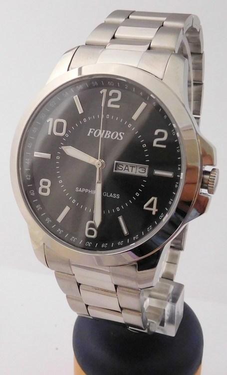 Mohutné přehledné pánské vodotěsné hodinky Foibos 7090.2 - 10ATM se  safírovým sklíčkem (POŠTOVNÉ ZDARMA! b17634e06a