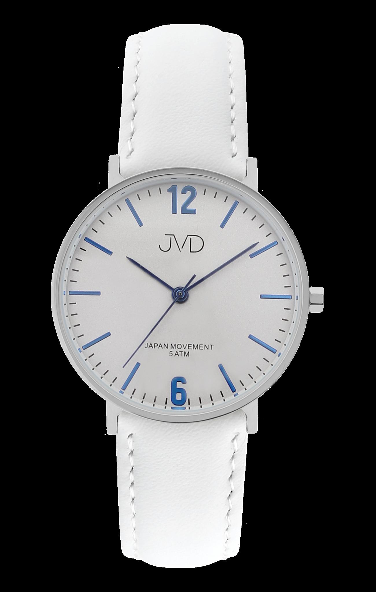 769e16797c0 Bílé dámské luxusní elegantní hodinky JVD J4173.1 s modrými prvky (POŠTOVNÉ  ZDARMA!