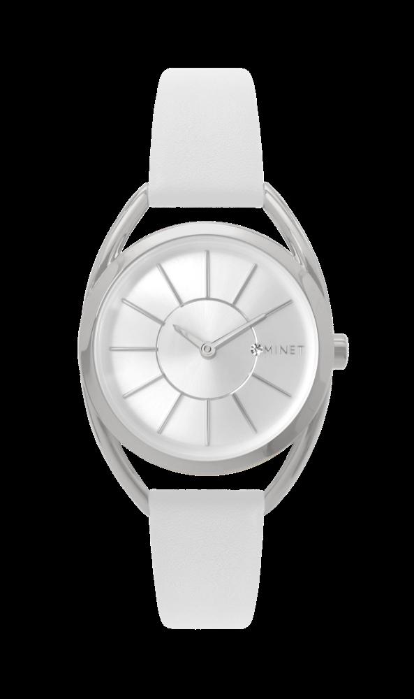 07ed45d3484 Bílé dámské hodinky MINET ICON SILVER WHITE MWL5026 (POŠTOVNÉ ZDARMA!! )