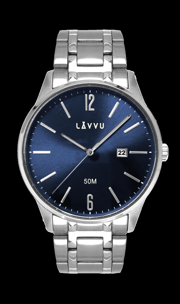 e936d656a Elegantní pánské hodinky LAVVU KARLSTAD BLUE LWM0081   Hodiny ...