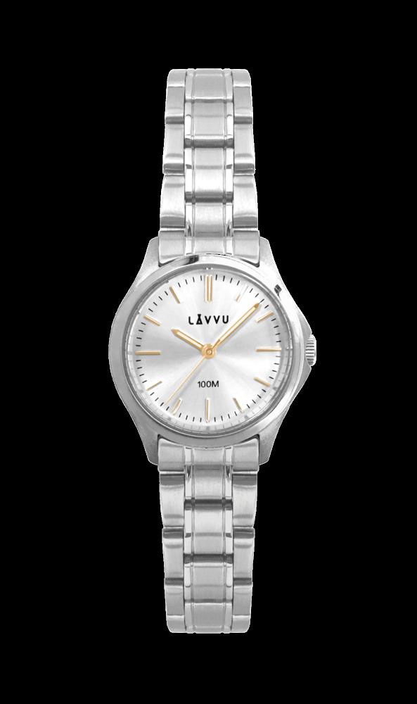 Dámské vodotěsné hodinky LAVVU ARENDAL Gold s vodotěsností 100M LWL5022  (POŠTOVNÉ ZDARMA! 131e797ebe