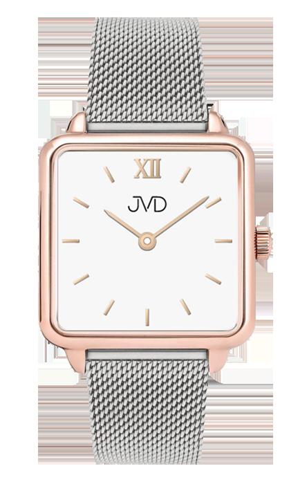 037977132 Luxusní dámské elegantní nerezové ocelové hranaté hodinky JVD J-TS23 ...