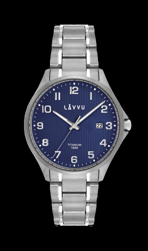 Extrémně lehké titanové hodinky LAVVU TITANIUM LILLEHAMMER Blue LWM0122 (POŠTOVNÉ ZDARMA!!!)