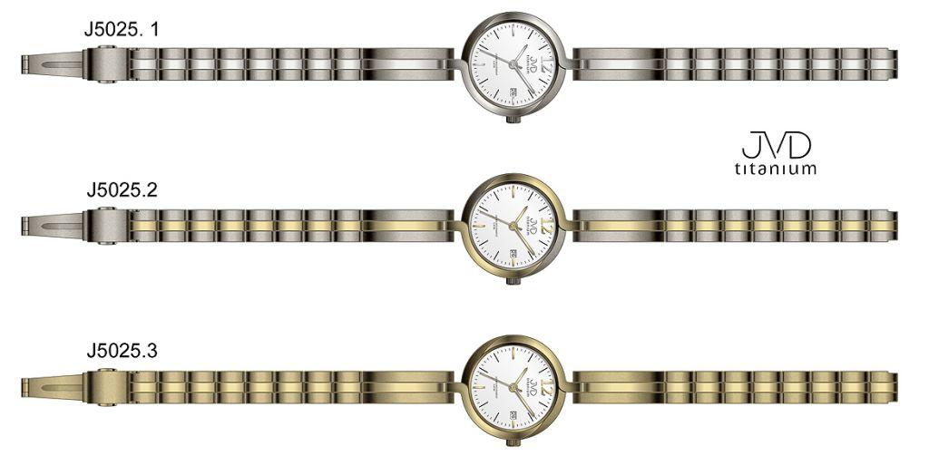 Dámské voděodolné celotitanové antialergické hodinky JVD titanium ... 79f3bdefa1