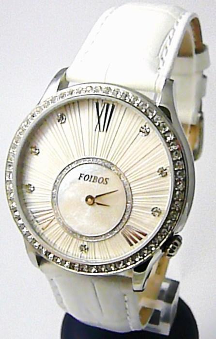 f67e5116a93 Kompletní specifikace · Ke stažení · Související zboží. Dámské luxusní bílé  hodinky Foibos 1x70 s římskými číslicemi