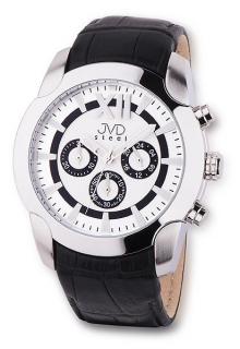 Pánské luxusní chronografy náramkové vodotěsné hodinky JVD steel V1176.1 72ef9bc2d6