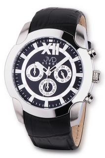 71175a0b9b7 Pánské luxusní chronografy černobílé vodotěsné hodinky JVD steel V1176.2