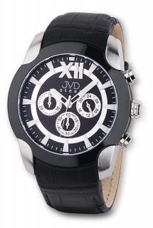 Pánské luxusní chronograph černobílé vodotěsné hodinky JVD steel V1176.3 063fc7dbc61