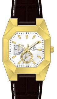 Designové hranaté ocelové zlaté náramkové hodinky JVD steel J1052.2 - 5ATM 174767012e