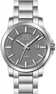 Vodotěsné odolné pánské hodinky JVD steel W48.1 10ATM d4cd82ce3f1