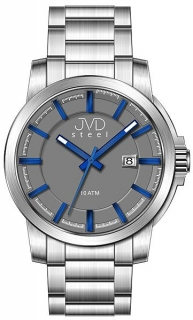 Vodotěsné odolné pánské hodinky JVD steel W48.3 10ATM e4cf9b5a3cc