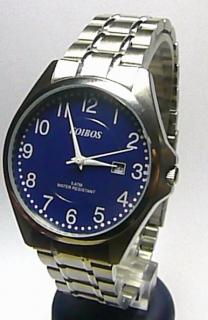Pánské elegantní stříbrné ocelové hodinky Foibos 3883.5 3ATM s modrým  číselníkemhodinky Foibos 3883.5 e8dd603aed