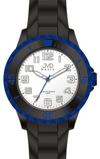 Dětské černo-modré chlapecké silikonové hodinky JVD basic J7133.2 - 5ATM 9963150f5d