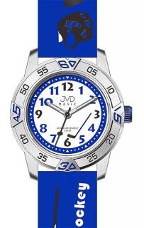 Dětské chlapecké hokejové modré náramkové hodinky JVD basic J7024.7 (HOKEJ) 17ffbdc153
