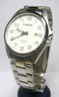 Pánské ocelové stříbrné vodotěsné hodinky foibos 2025.1 se safírovým sklem  10ATM e6a1a7e222