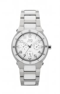 Dámský chronograf - keramické hodinky JVD steel J4131.1 s keramickou lunetou 3427882a3f