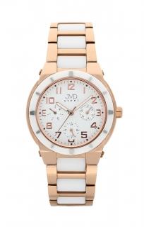 Dámský chronograf - keramické hodinky JVD steel J4131.2 s keramickou lunetou e1418b1f4e