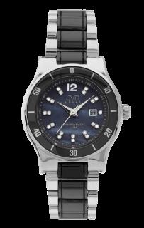 Dámské keramické černé hodinky JVD steel J4125.3 s perleťovým číselníkem b85488f2c7a