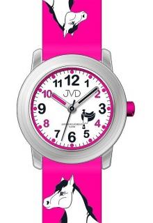 Dětské dívčí hodinky JVD J7150.2 s motivem koně a podkovami pro štěstí 566b361e8d