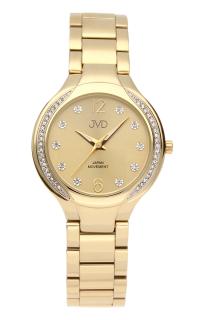 Šperkové perleťové nerezové dámské hodinky JVD JC068.2 - 5ATM s krystalky c7664587a74