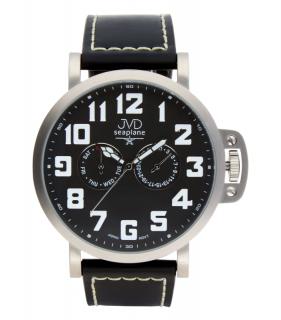 Luxusní pánské vodotěsné ocelové hodinky hodinky JVD Seaplane JA1323.1 27eb05b11a