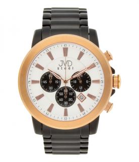 f460649751c Mohutné ocelové moderní vodotěsné hodinky JVD C725.3 - chronograf 10ATM