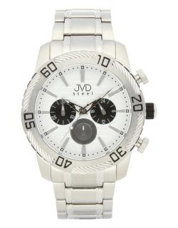 Mohutné pánské celonerezové vodotěsné hodinky JVDC 1130.1 s chronografem  10ATM 113e2fb05cc