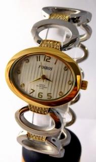 Dámské šperkové stříbrné hodinky s kamínky na pásku Foibos 24221 BICOLOR e2eb9f95e8