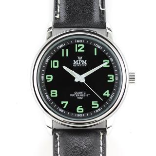 95bf1e1ab3d Atraktivní pánské hodinky na černém řemínku MPM W01M.10584.