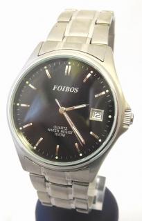 Pánské vodotěsné čitelné ocelové hodinky Foibos 6345 s datumovkou 3fc74de119