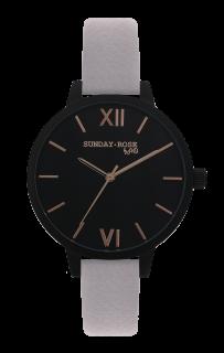 Dámské luxusní designové černé hodinky SUNDAY ROSE Classic MOON DUST 7d65917f4b