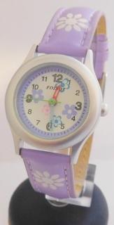 f62155dca4a Světle fialové (fialkové) dětské hodinky Foibos 1567.7 s barevnými motivy