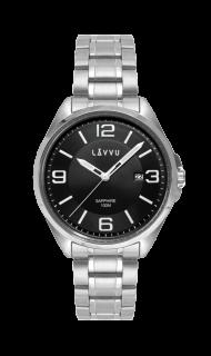 Vodotěsné pánské hodinky se safírovým sklem LAVVU HERNING Black LWM0092 f297e224b2