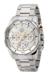 Pánské vodotěsné náramkové hodinky JVD JE1005.1 - chronograf 10ATM 4a656572735